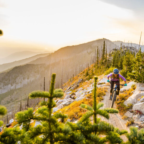 Nikki Rohan on a dawn patrol in the Entiat Mountains of the Cascades. Imagery is model released.
